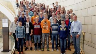 Realschule Bielstein besuchte Dr. Adelmann im Landtag
