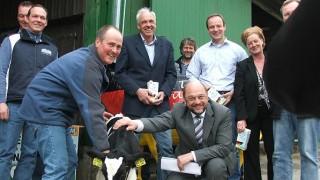 EU-Parlamentspräsident Martin Schulz sprach bei Infobesuch in Wiehl über die Agrarreform