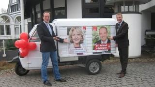 Dr. Roland Adelmann und Innenminister Ralf Jäger mit der SPD Nümbrecht unterwegs